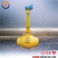 进口加长杆全焊接球阀DN25  DN50  DN100
