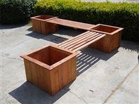 道路花箱,隔离带花箱,平顶山木塑花箱