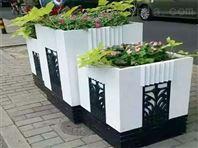 道路隔离带花箱,木塑花箱,公园防腐木花箱