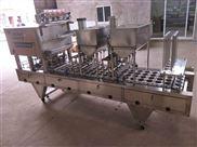 武汉吕工牌4口杯装奶茶全自动灌装封口机