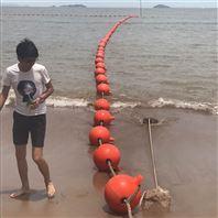 塑料警示浮球水库禁航标识浮筒安装