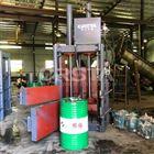 回收機油桶壓縮打包機HDPE桶液壓壓包機