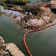 河滨博雅棋牌游戏大厅袋浮式拦污排漂浮垃圾拦截浮桶