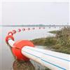 FT70*80*32中密度聚乙烯管道浮体抗风浪夹管浮桶规格